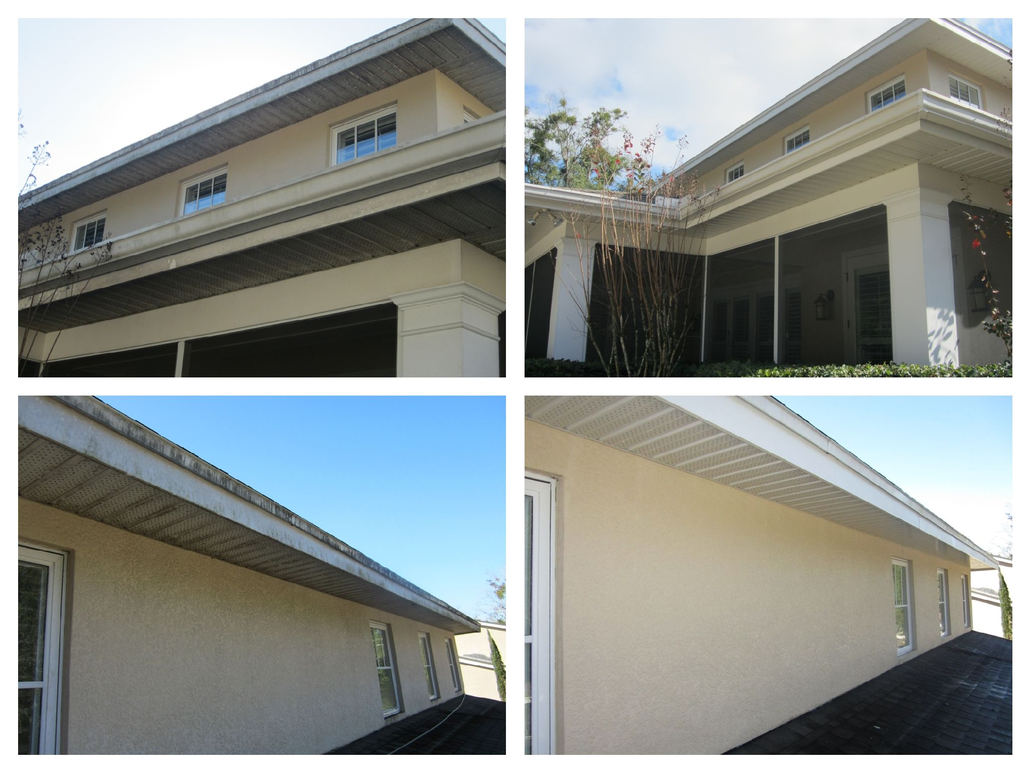 Look At These Eaves And Soffits Before And After What A Difference No Painting Necessary Almost Unbelievable This On Pressure Washing Orlando Roof Cleaning
