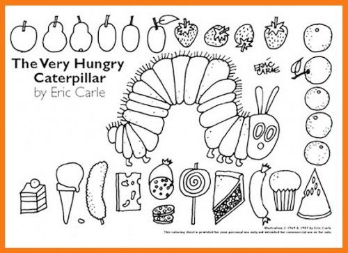 The Very Hungry Caterpillar Colouring Sheets Free Eyfs Ks1