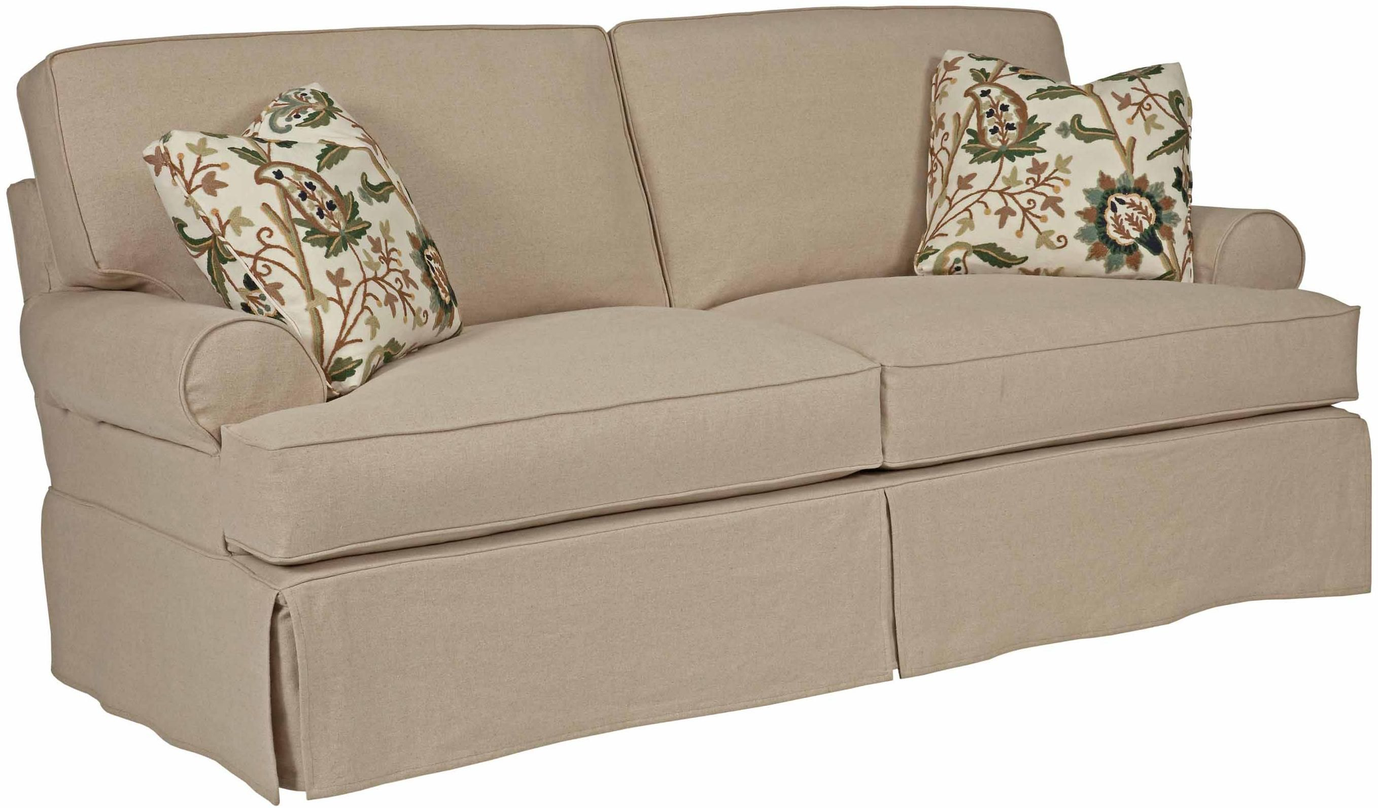 Samantha Samantha Two Seat Sofa With Slipcover Tailoring Loose Pillow Back By Kincaid Furniture At Hudso Cushions On Sofa White Slipcover Sofa Couch Cushions