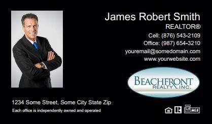 Beachfront Realty Business Cards Bri Bc 022 With Photo