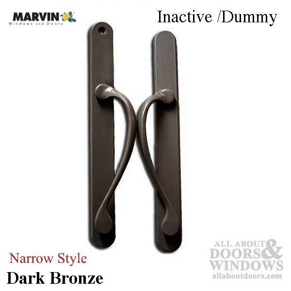 Marvin Narrow Traditional Passive Sliding Patio Door Handle Dark