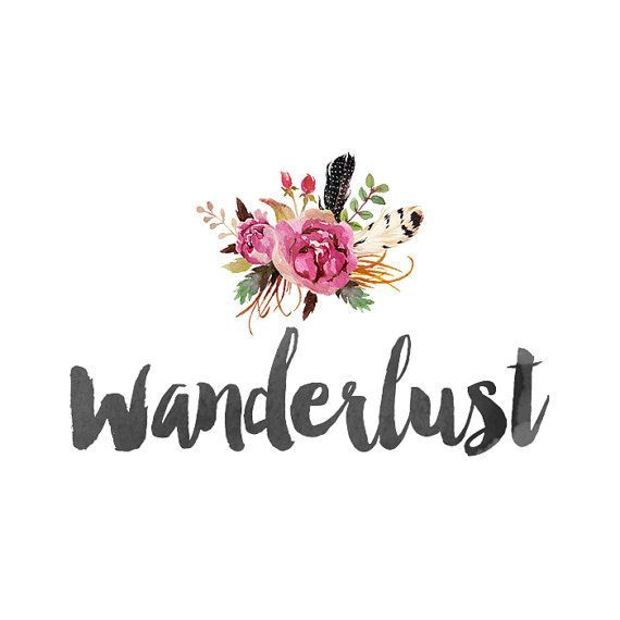 Bohemian Logo Design Watercolor Flowers By QuietForestDesign