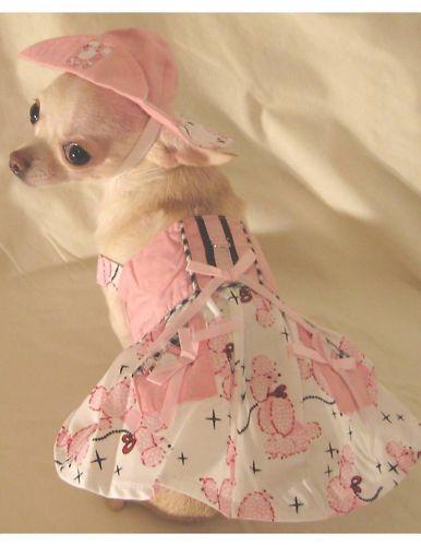 Posh Poodle Harness Dress Set Dog Clothes Chihuahua Size S M L
