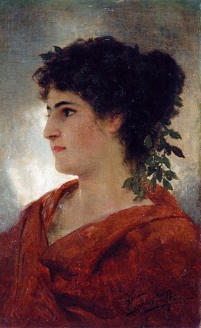 Portrait of Woman - Henryk Siemiradzki