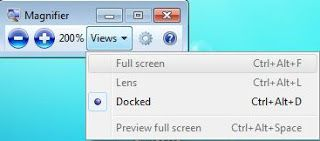 Magnifier in windows 7