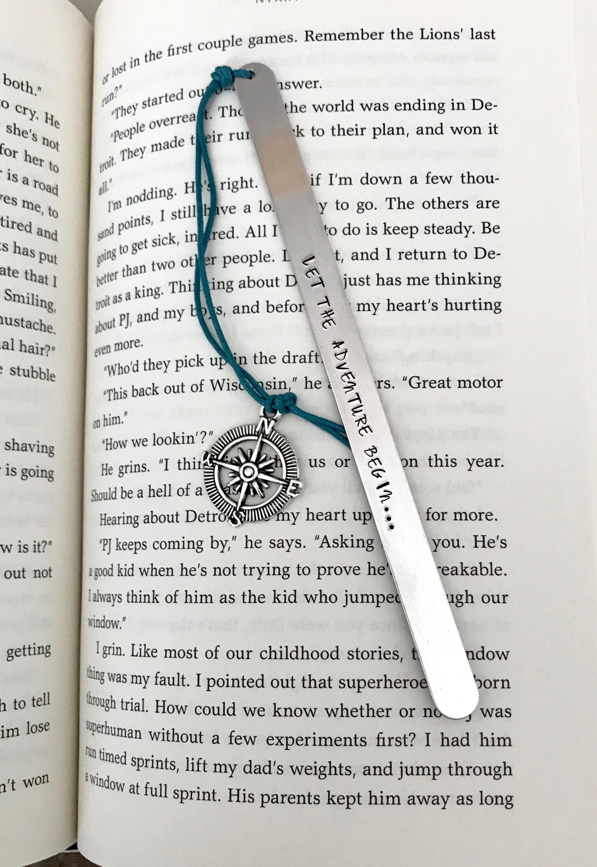 Excited To Share This Item From My Etsy Custom Bookmark Let The Adventure Begin Traveler Gift For Reader Senior Wander