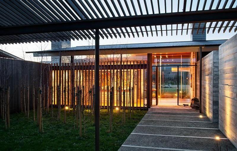 trellis covered pavilion contemporary 800 513. Black Bedroom Furniture Sets. Home Design Ideas