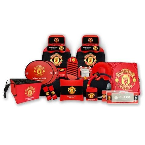 Manchester United Full Car Accessory Set 17 Items Manchester United Car Accessories Manchester