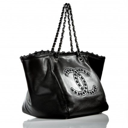 Chanel Black Lambskin Pearl Obsession Tote Bag, Limited Edition   Portero Luxury