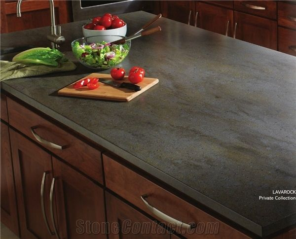 This is our island counter top. Lavarock Corian Solid ...