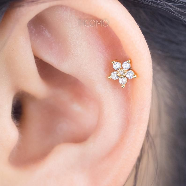 2mm//3mm//4mm//5mm Sterling Silver Stud Earrings for Women Men Girls 4 Pairs Small Round Cubic Zirconia Earrings Set Tiny Dainty Cartilage Tragus Earrings