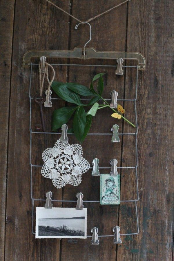 Halter Drahtkleiderbügel bastelb und dekorieren selber machen