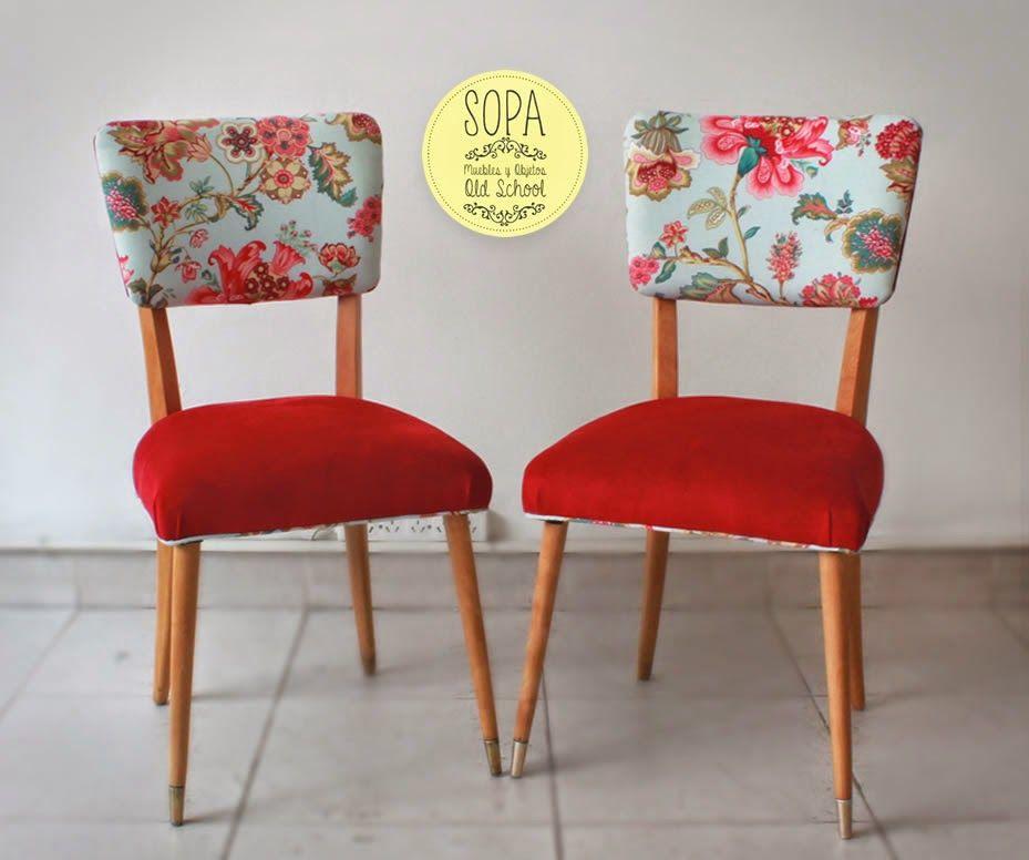 Sillas americanas gretel casa pinterest sillas - Tapizado de sillas antiguas ...