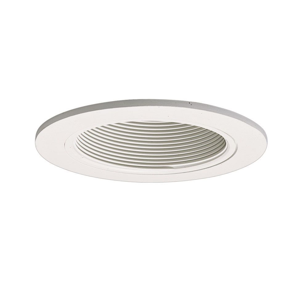 White Baffle With Satin Trim Ring 4 Inch Aperture Recessed