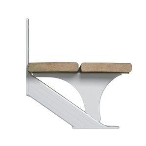Best 2 Piece 1 Step White Stair Stringer Stairs Stringer 400 x 300