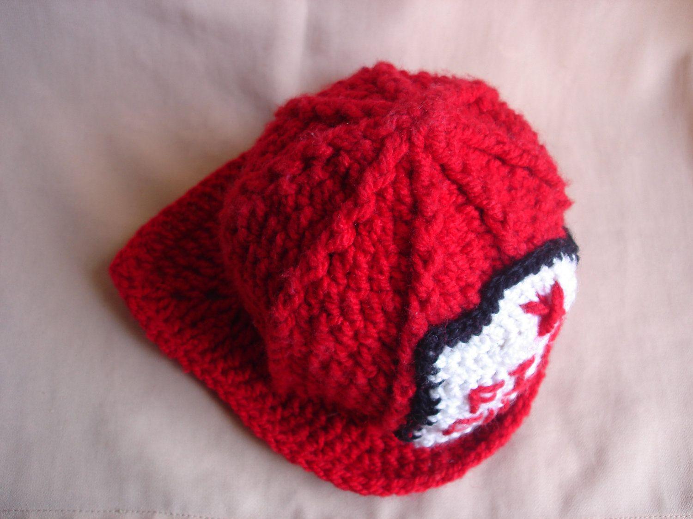 23ffa4ab74c Crochet hat pattern crochet fireman hat by Thehobbyhopper.