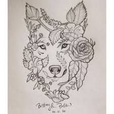 Image Result For Wolf And Flowers Drawing Wolffox Artill
