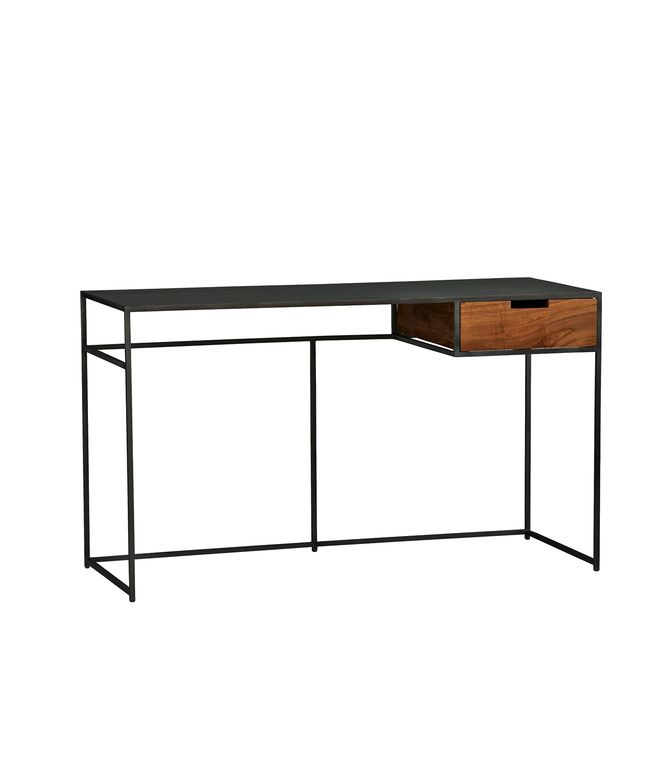 industrial iron furniture. guapo desk by cb2 499 this trim work surface sports an industrial iron frame with furniture m
