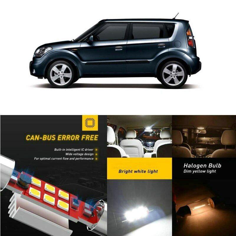Led Interior Car Lights For Kia Soul Am Hatchback Sportage K00 Sl Venga Yn Hatchback Car Accessories Lamp Bulb Error Free Only 8 In 2020 Car Lights Kia Soul Sportage