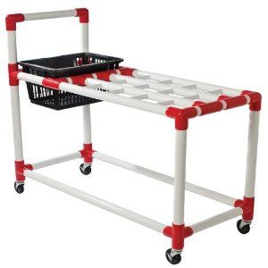 Racquet Cart by BSN. $178.65. Stores and transports up to 100 racquets and paddles of all types plus balls, shuttlecocks and other accessories. Some assembly required. Features a large bag for storing tennis balls, shuttlecocks and other accessories. Transport all your badminton or tennis equipment in one trip. Sold individually. Stores and transports up to 100 racquets and paddles of all typesTransport all your badminton or tennis equipment in one tripFeatures a ba...