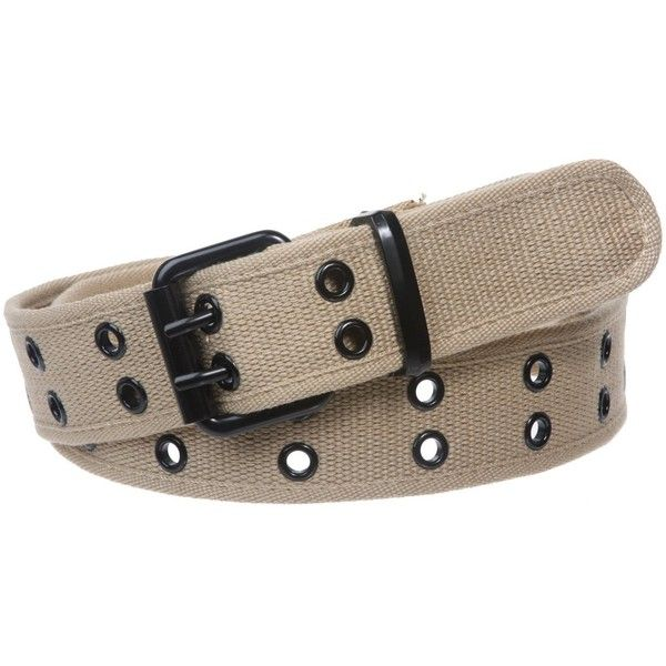 Double Hole Grommets Canvas Web Belt ($9) ❤ liked on Polyvore