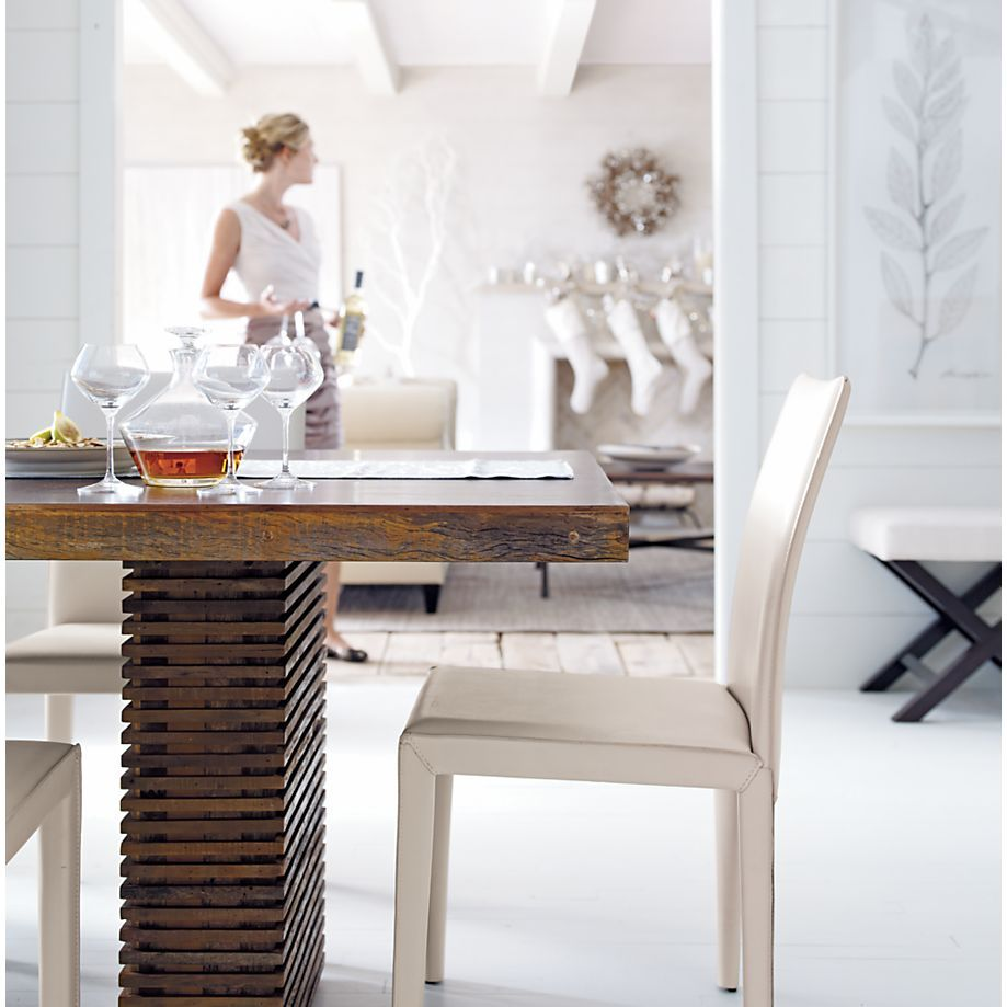 Paloma I Square Dining Table Reclaimed Wood Dining Table Dining