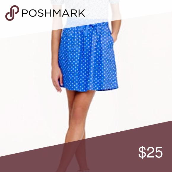 Jcrew polk a dot skirt Jcrew linen polka dot skirt. Great condition J. Crew Skirts