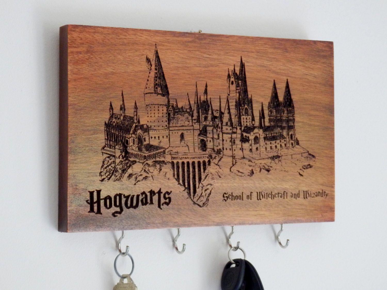Harry Potter Hogwarts School Key Rack, Key Hanger, Key Hook, Key Holder  Custom