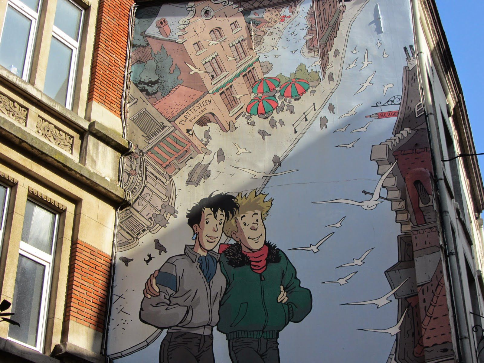 Brussels' comic book wall 20