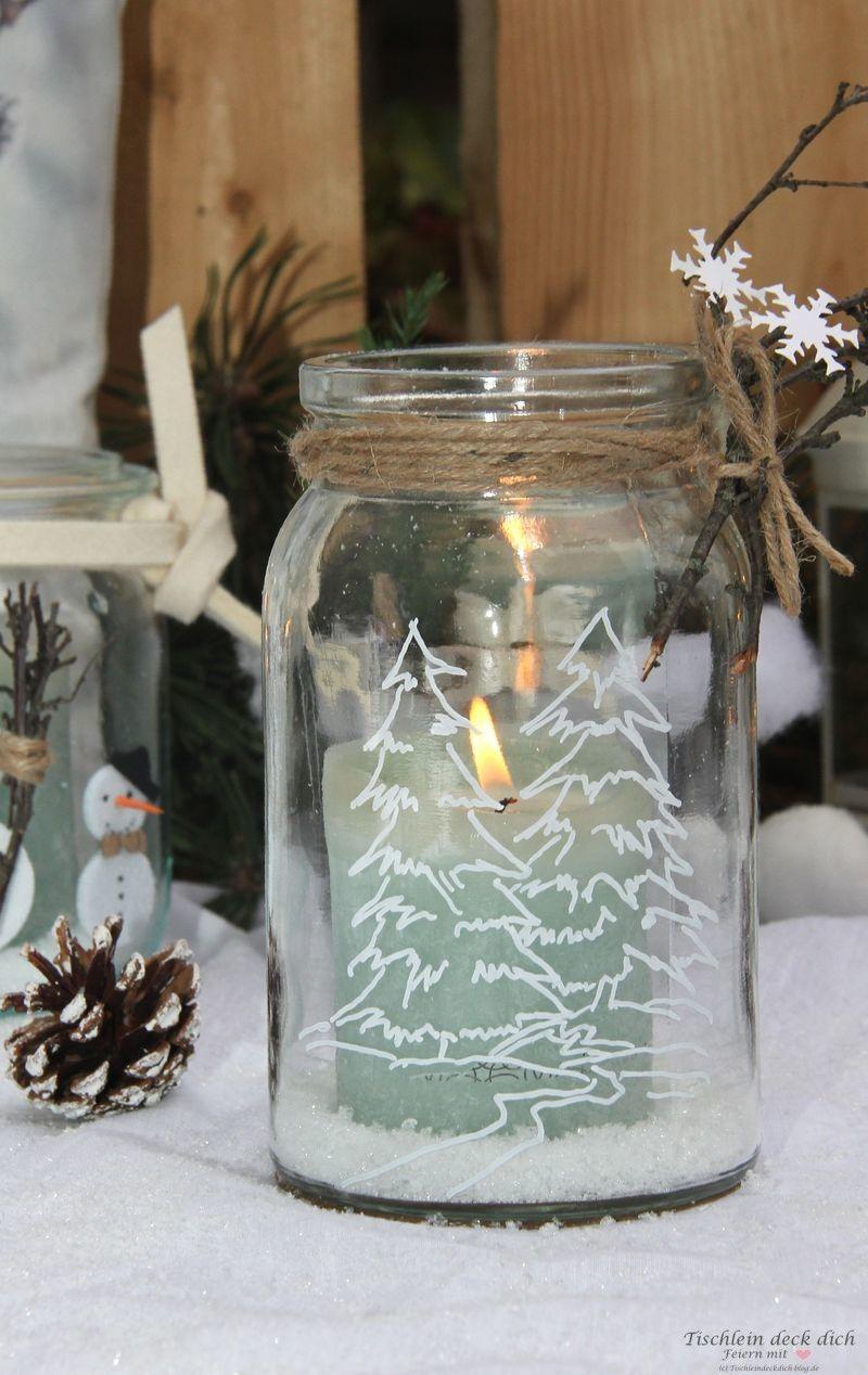 Kreativ Freitag No. 3 - Gläser winterlich dekorieren
