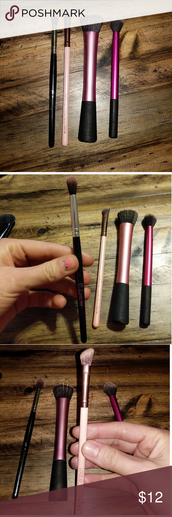 Makeup brushes bundle Real techniques stippling brush and