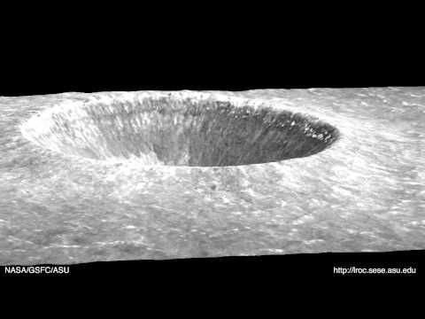 Moon Flyover Of Linne Crater Via The Lunar Reconnaissance