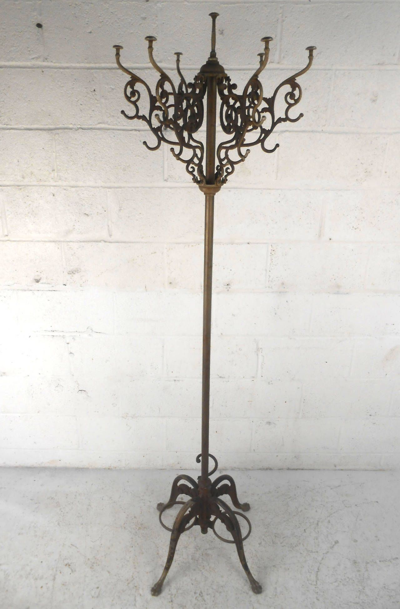 new coat rolling outstanding rack regard cast top home to at steel and modern decor stand vintage with iron antique clothes regarding