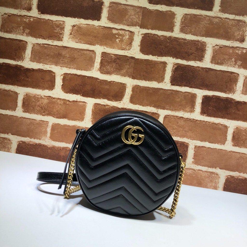 cc5250ef9bba6 Gucci mini round shoulder bag 550154 Black