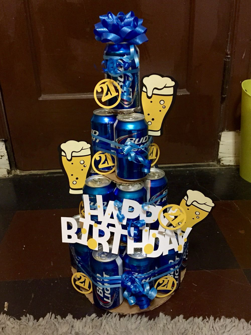 Beer Tower Cake For A 21st Birthday Creative 21st