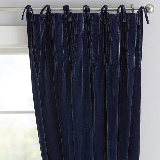 Shimmer Velvet Drape108 Inchesnox Navy Curtains Blackout