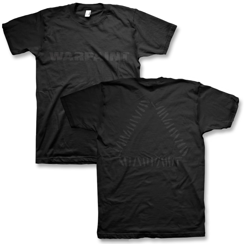 Official Warpaint Black On Black Logo TShirt Warpaint