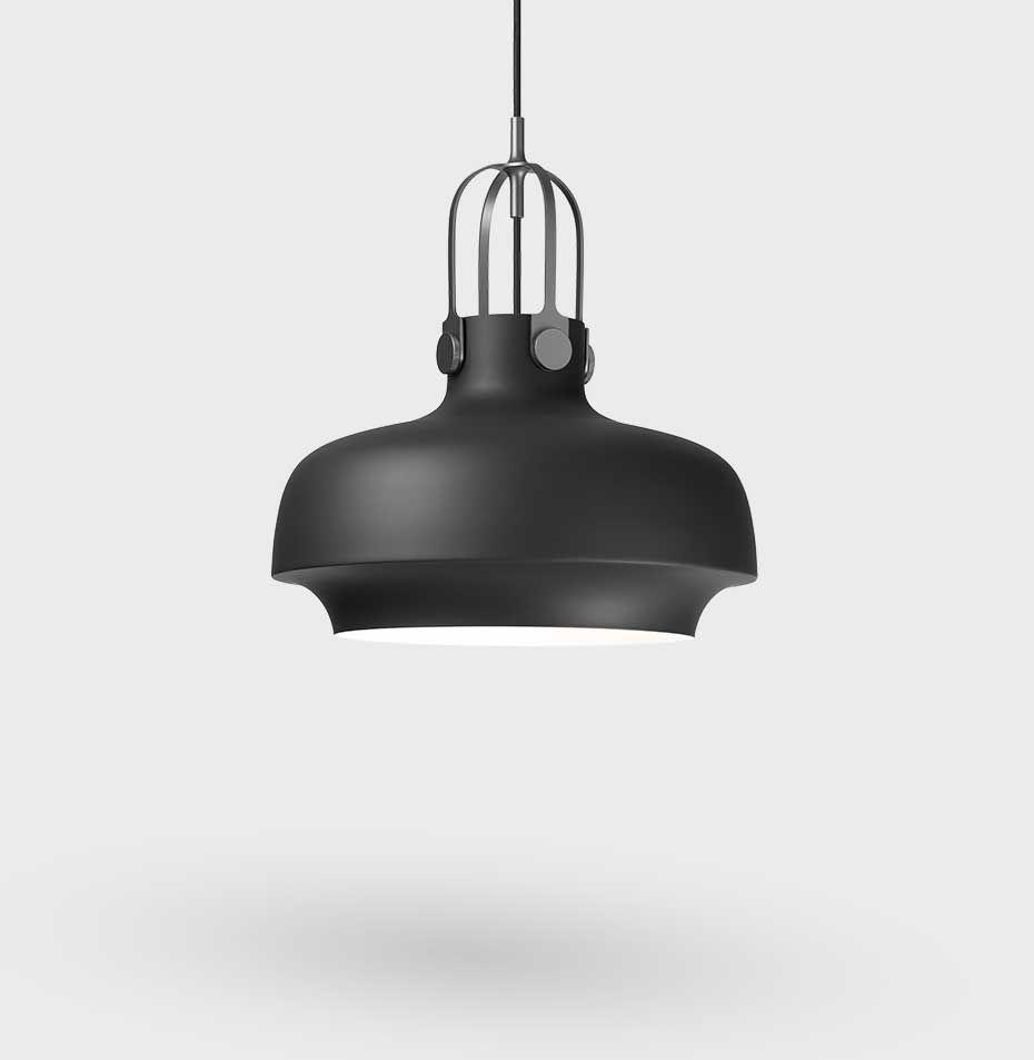 Copenhagen Sc7 Pendel Lampe O35 Cm Matt Black Tradition Nova Mobler Pendant Light Pendant Lamp Pendant Ceiling Lamp