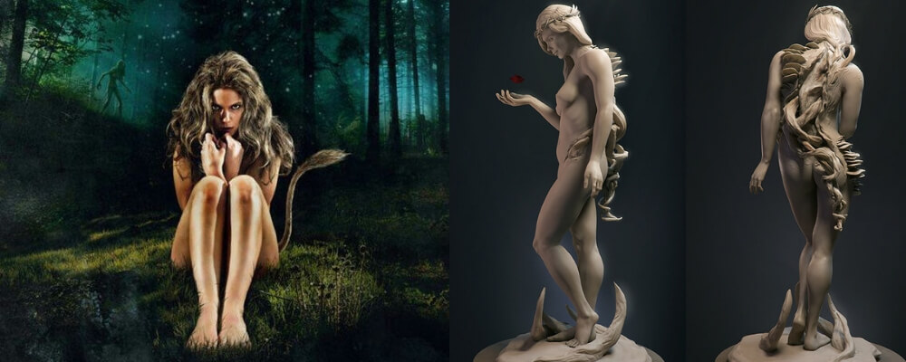 Sexy nude mythical creatures