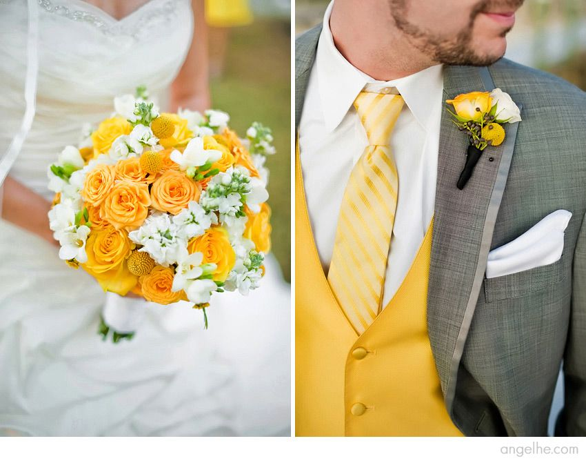 Yellow and Gray Tampa Wedding
