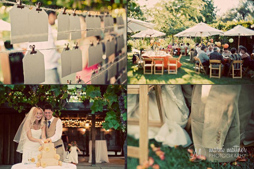 Outdoor Fall Celtic Wedding Ideas Outdoor Garden Reception In