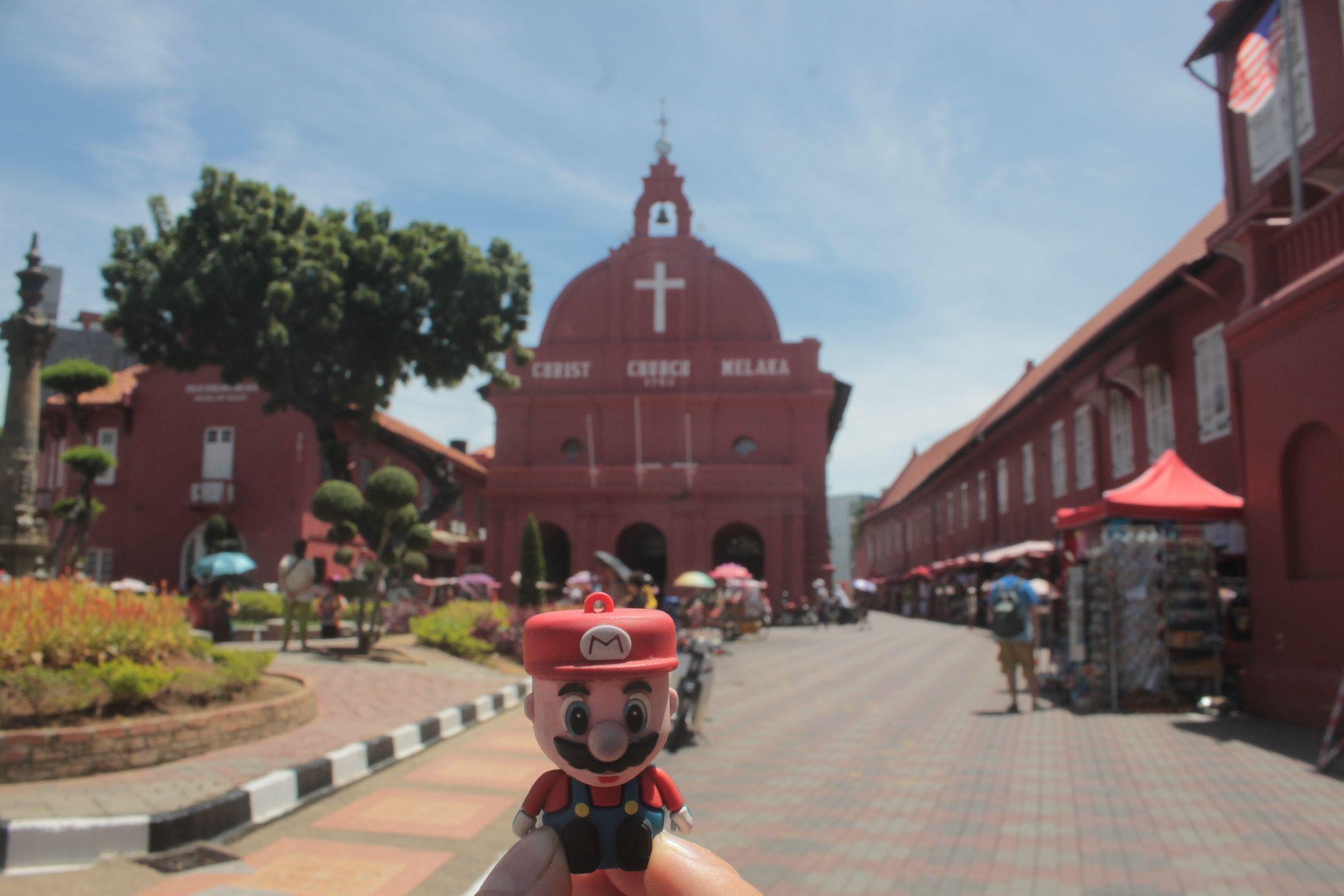 En la iglesia holandesa de Melaka