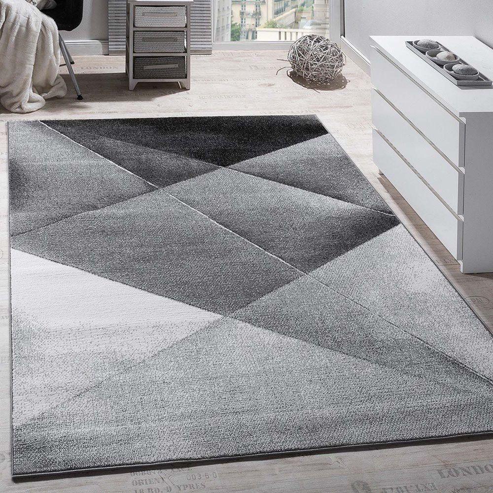 Modern Large Rug Grey Silver Black Carpet Living Room Art Design Mat Hall Runner Ebay Black Rug Hallway Carpet Runners Black Carpet