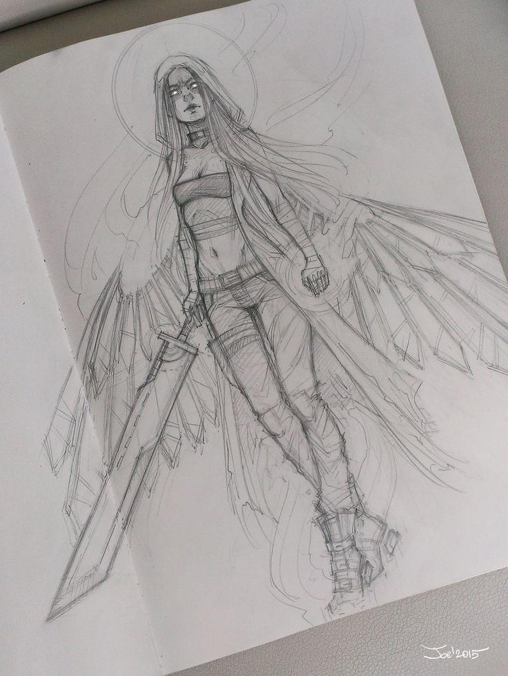Angel sketch by sashajoe.devianta... on @DeviantArt
