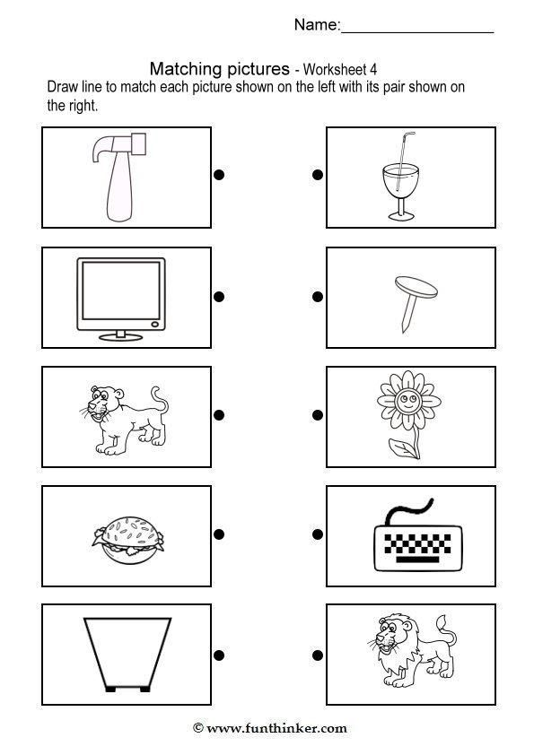 Printable Worksheets brain teasers worksheets for kids : 2014-07) Hvilke ting passer sammen? | tehtäviä lapsille ...