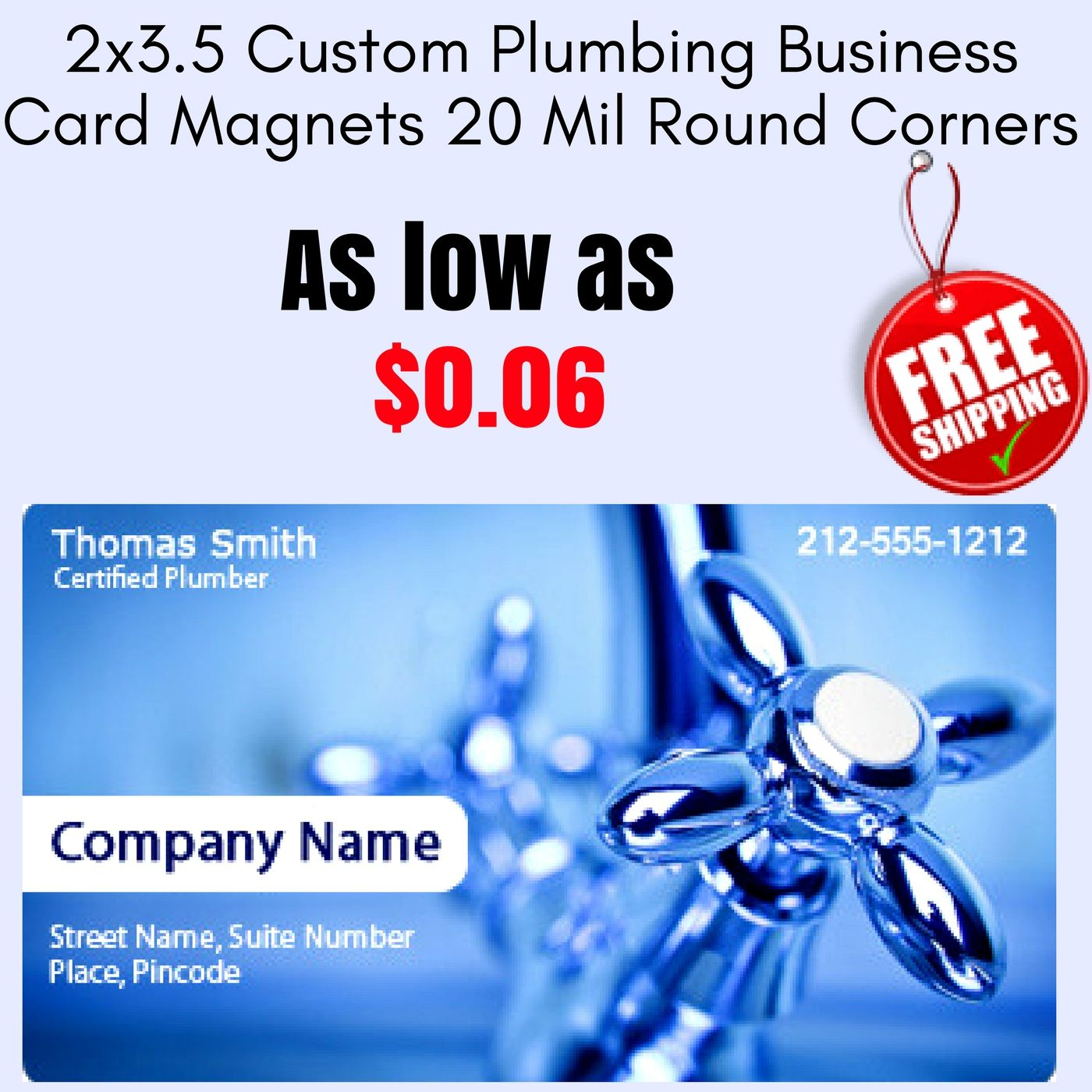 plumbers can customize it with their service information contact
