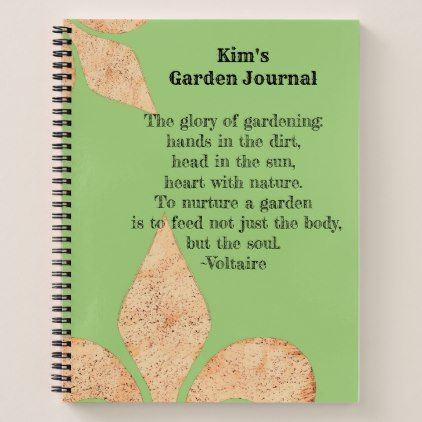 Inspirational quote Fleur de lis Garden Journal
