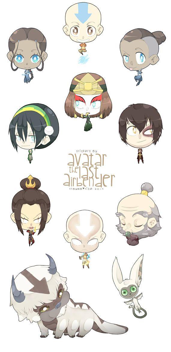 Avatar: The Last Airbender sticker set #avatarthelastairbender
