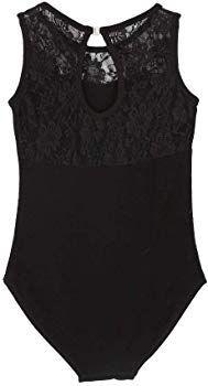 486d02265391 Amazon.com: Gsha Girls Sleeveless Lace Ballet Dancewear Leotard Gymnastics  Tops Costumes Black 110: Clothing