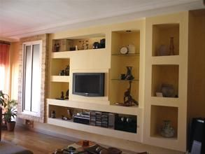 cosy drywall entertainment centers. Pladur  Tv RoomsEntertainment CenterTv StandsIron DoorsWall room project Pinterest walls Shelves and Room